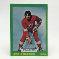 1973 74 OPC O Pee Chee Larry Romanchych 185 Atlanta Flames Hockey Card E655
