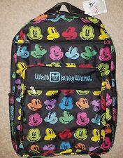 NEW Walt Disney World POP ART MICKEY MOUSE FACES Rainbow Backpack Bag 2017