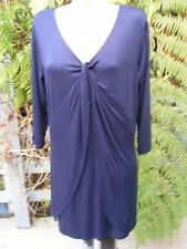 Twist Neck Tunic Top 3/4Slv NAVY Size XL-18 NEW rrp$39.99 Midnight Blue RockmanS