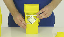 Sharps Container 600ml Needle Disposal x 2