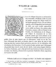WILHELM LEIBL KOLN ARTICLE DE PRESSE PAR LOUIS REAU  1911