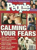 People Magazine October 29 2001 Calming Your Fears Post 9/11 Beverly Hills 90210