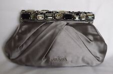 5cf58c7677e6e5 GENUINE** PRADA ** silk & swarovski crystal exquisite bag silvery mink with  tags