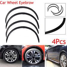 4pcs Black Carbon Fiber Car Wheel Eyebrow Arch Trim Lips Fender Flare Protector