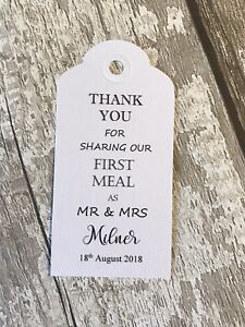 50 Thank you for sharing our first meal as Mr and Mrs tags