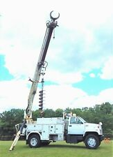 GMC DIGGER DERRICK AUGER GRAPPLE POLE SETTING TRUCK * AIR CONDITION * NO RESERVE