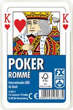 55 Blatt Ravensburger Spielkarten Poker Internationales Bild Etui 27067