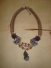 Lola Paltinger Trachtenkette LP 60003 Halskette Collier Perlenkette altrosa