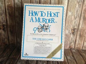 HOW TO HOST A MURDER - THE CHICAGO CAPER NC - 1986 ORIGINAL MURDER MYSTERY GAME