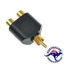 1 x RCA AV Y Splitter Plug Adapter 1 Male to 2 Female