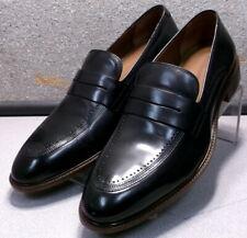 150431 MS50 Men's Shoe Size 9.5 M Black Leather Slip On Loafer Johnston & Murphy