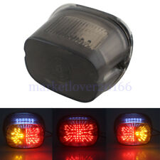 Smoke LED Tail Light With Turn Signals For Harley Dynas Electra Tour Glides XL