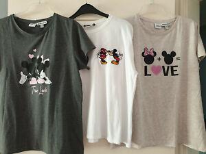 Disney 3x Mickey+Minnie Maus T-Shirt Kleiderpaket Konvolut weiß L grau+ beige XL