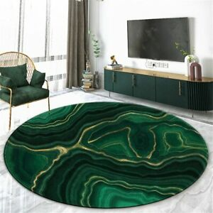 Marble Round Carpet Living Room Modern Flannel Mat For Bedroom Coffee Table Rug