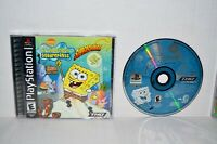 SpongeBob SquarePants: SuperSponge (Sony PlayStation 1, 2001) PS1 PSOne PS2 MINT