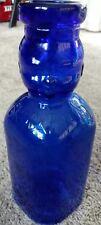 Vintage Brookfield Dual Baby Face Cobalt glass 1 quart milk bottle