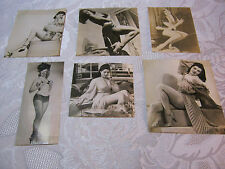 PIN UP GIRL MODEL RISQUE WOMAN REAL PHOTO LOT WWII  FROM SCRAP BOOK  LOT#3