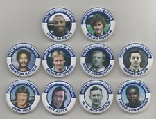 WEST BROMWICH ALBION  FC  LEGENDS (SET 1)   BADGES X10  38MM IN SIZE