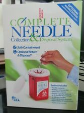 Complete Needle Collection Amp Disposal System Biohazard Sharps Container New