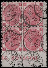 Sg103 1867 3d. Rosa PIASTRA 8, IG-JH con Crisp Dublin CD Annulla. e1310