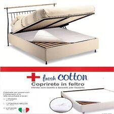 Coprirete Matrimoniale Piazza e Mezza Singolo Made in Italy in Feltro con Lacci