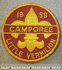 Vintage 1958 LITTLE VERMILION Boy Scout Camporee PATCH BSA Piankeshaw Council