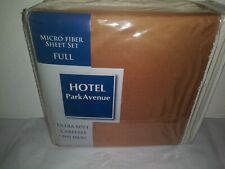 New Hotel Park Avenue Full Sheet Set W/ 2 Pillowcases Terracotta Brown