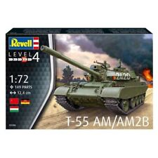KIT REVELL 1:72 CARRO ARMATO T 55 AM/AM2B 149 PARTI  LUNGHEZZA 12,4 CM ART 03306