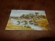 Shropshire Salmon postcard - The castle & Dinham bridge - Ludlow