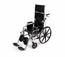 "Medline Reclining  Wheelchair with 18""W x 17""D Seat - MDS808450"