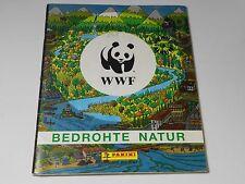 WWF Bedrohte Natur Sticker Album - Panini (teils beklebt)