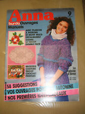 Anna - Burda Ouvrages Manuels N° 9 1985 Tricot double face Broderie Patron