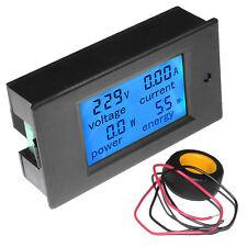 LCD AC 80-260V 0-100A Digital Voltage Volt Current Meter Panel Power Energy BA