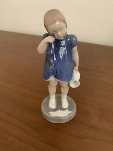Bing and Grondahl Danish Figurine #2246 Girl with Spilt Milk