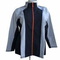 DENIM CO. Women Plus Size 3X Black Active Color Block Lightweight Fitted Jacket