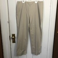 Charter Club Pants Size 10 Classic Fit Tan Beige Lightweight Cotton Spandex