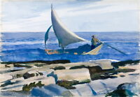 Edward Hopper The Dory Giclee Canvas Print Paintings Poster Reproduction Copy