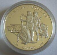 Kanada 1 Dollar 1990 300 Jahre Kelsey-Expedition Silber PP