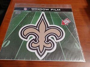 """Large 10"""" New Orleans Saints CAR  PERFORATED WINDOW FILM DECAL NFL FOOTBALL"""