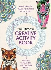 Ultimate Creative Activity Adult Colouring Book Number Dot to Dot Puzzles Mazes