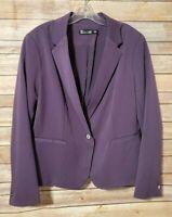 New York & Company 7th Avenue Solid Purple Blazer Jacket Womens 14 Career