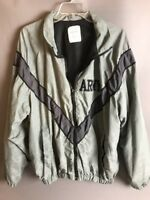 army jacket large mens / womens reflective camo waterproof gray military service