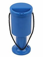 NEW! 5 Hand Held Skyblue Plastic Collection Boxes Donation Charity Fundraising