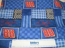 """Dale Earnhardt Jr #88 NASCAR Cotton FLANNEL Fabric Remnant 31""""W x 39""""L"""