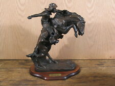 "16"" American Handmade Bronze Sculpture Statue Bronco Buster / Frederic Remington"