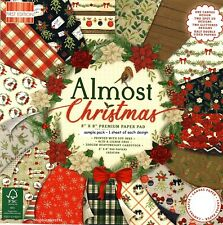 ALMOST CHRISTMAS Dovecraft Premium 8 x 8 Sample Paper Pack 16 sheets 200 gsm NEW