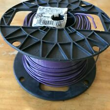 500 Ft Spool Purple 16 AWG Stranded Copper TFFN MTW Building Fixture Wire