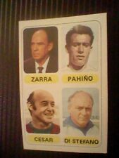 1977 SPANISH FOOTBALL CARD DI STEFANO PAHIÑO ZARRA CESAR