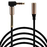3.5mm Jack Elbow Male To Male Stereo Headphone Car Aux Audio Extension Cable US