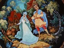 Russian Decorative Palekh Plate Legend of the Snowmaiden Ltd Ed  Boxed Plate 4